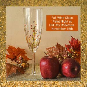 Philadelphia wine glass paint night